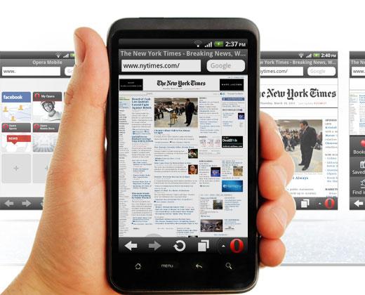 Opera miniスマートフォンでのPCサイト拡大表示機能
